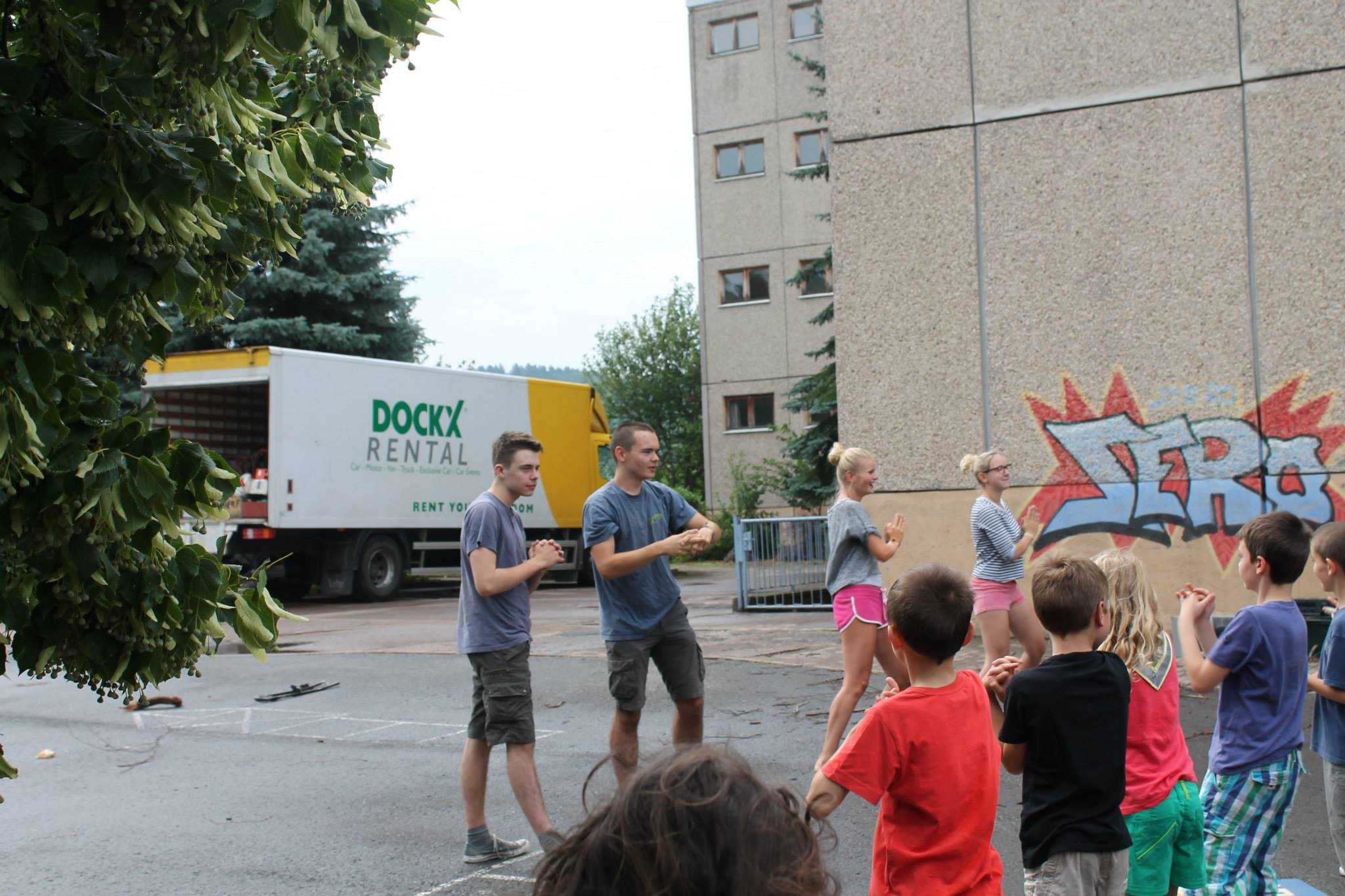 Scouts Kamp Dockx Camion
